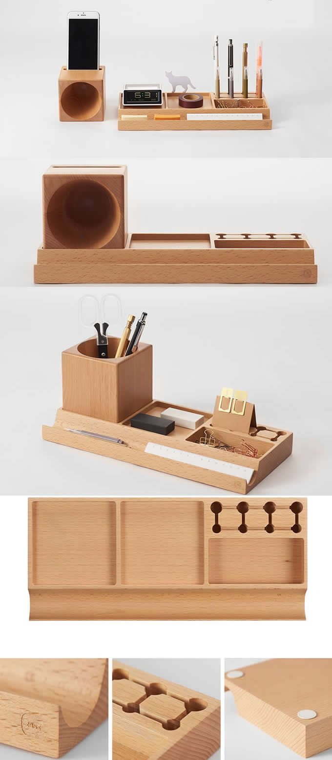 Black Walnut Wooden Makeup Brush Holder Cosmetic Organizer Pen Pencil Holder Office Desk Org Wooden Desk Organizer Home Office Accessories Diy Furniture Tools