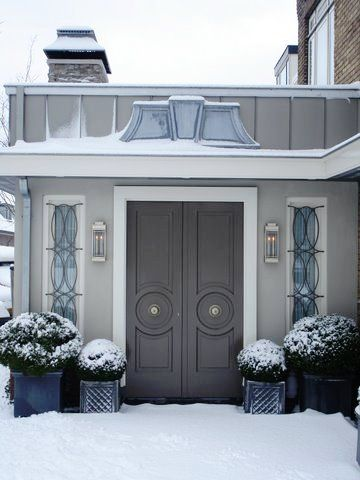67 best Gray house with colored doors images on Pinterest | Blue ...