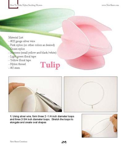 Handmade Nylon / Stocking Flowers and Instructions - MISCELLANEOUS TOPICS
