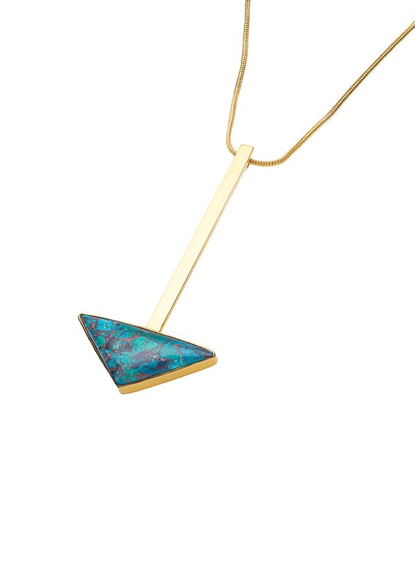 PUSHMATAaHA // Su Necklace / Chrysocolla with Gold Plate