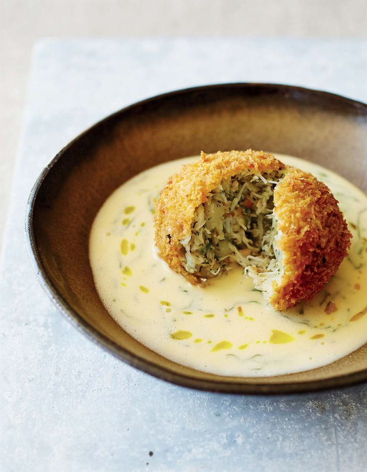 Crab cakes with lemon butter sauce recipe from Nathan Outlaw's Home Kitchen by Nathan Outlaw | Cooked