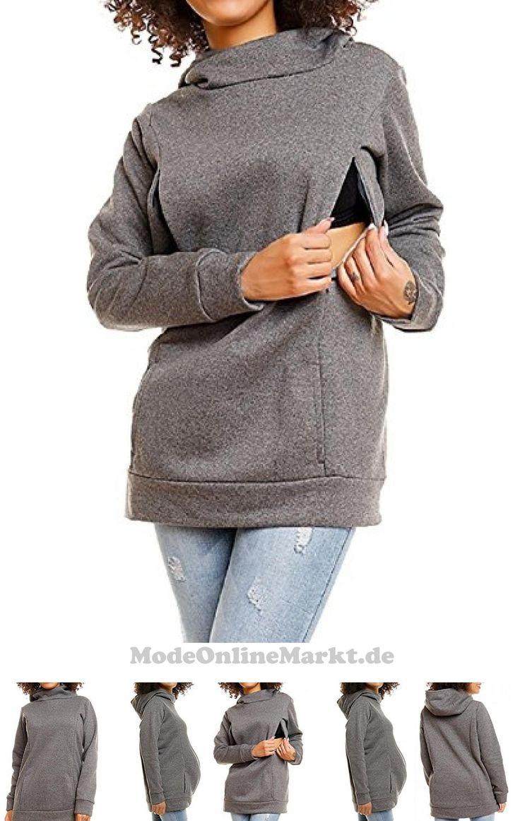 5054634088229 | #Zeta #Ville  #8211; #Damen #Diskretes #Still-Sweatshirt #Kapuze #Seitenreißverschluss  #8211; #093c #(Grau, #EU #36/38, #S/M)
