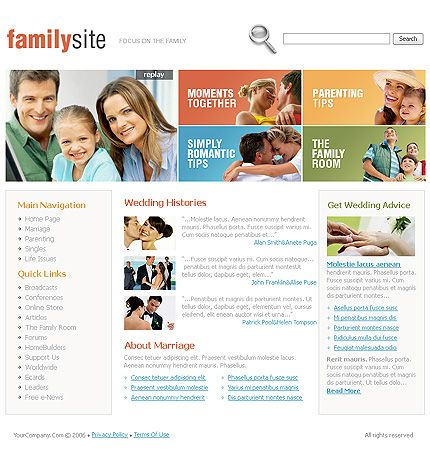 Family Site SWiSH Templates by Hugo