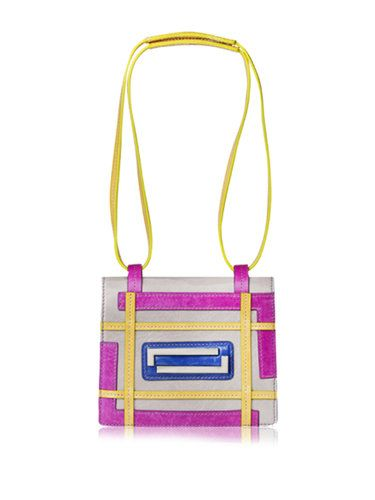 Gray-purple Maze Zipper Retro Shoulder Bag