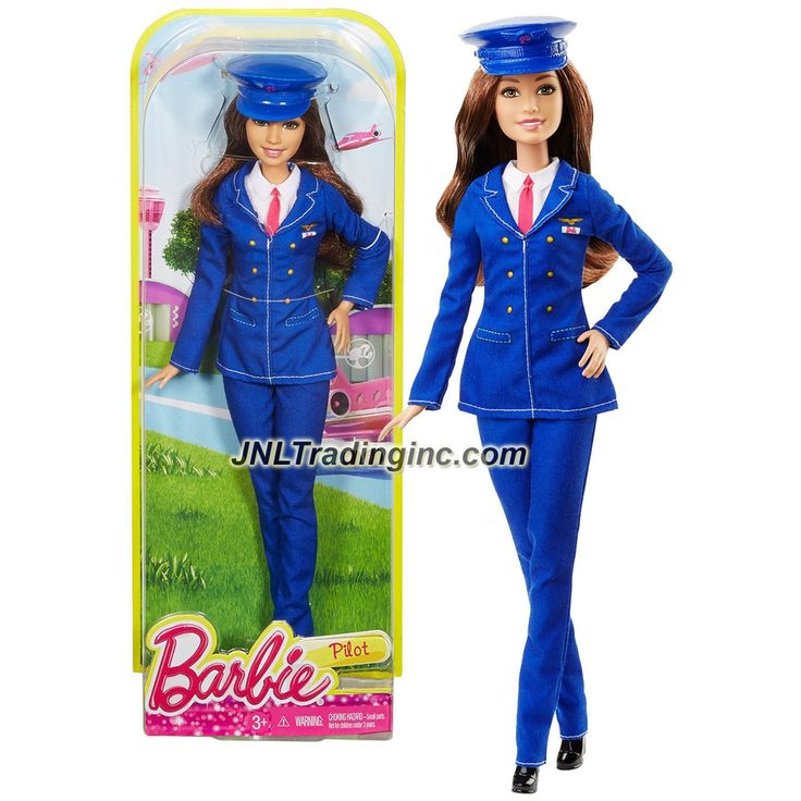 Mattel Year 2015 Barbie Career Series 12 Inch Doll - TERESA as PILOT (DHB66) with Removable Pilot Hat
