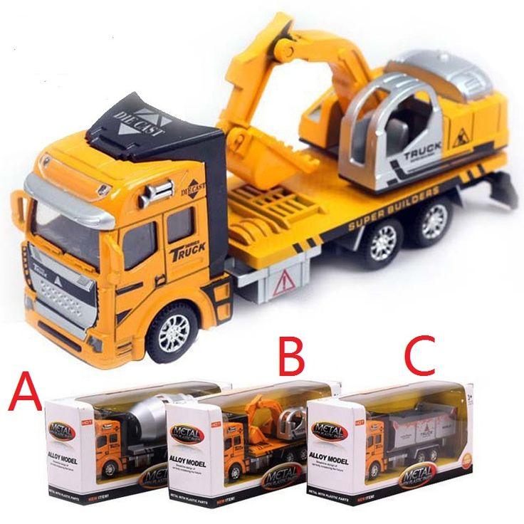 1:48 miniatura modello di camion servizi igienico-sanitari di ingegneria veicolo di simulazione modellini giocattolo in lega auto spazzatura toys per i bambini a055