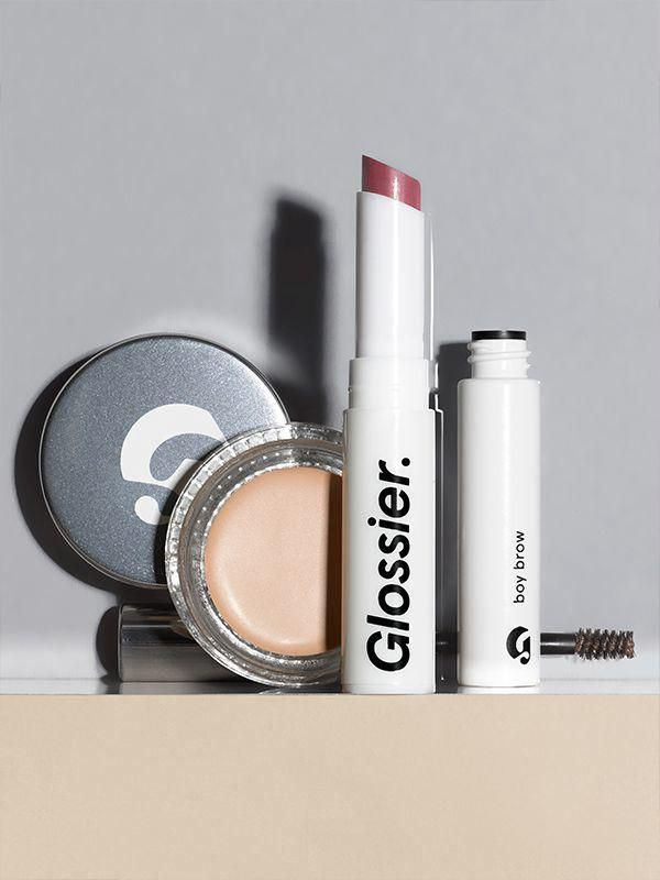 Makeup Set – Phase 2 | Glossier  lip in jam, concealer in light, brow in brown  20% off using http://bff.glossier.com/eMpPA
