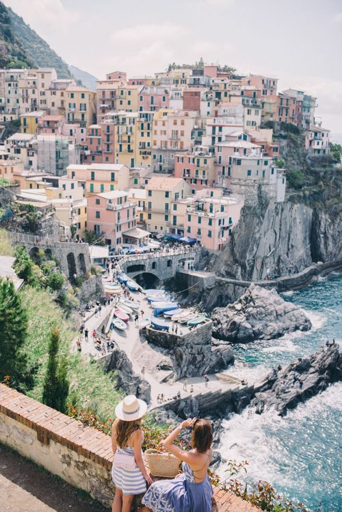 Venture the Cinque Terre, Riomaggiore, Italy with your bestie (via Gal Meets…