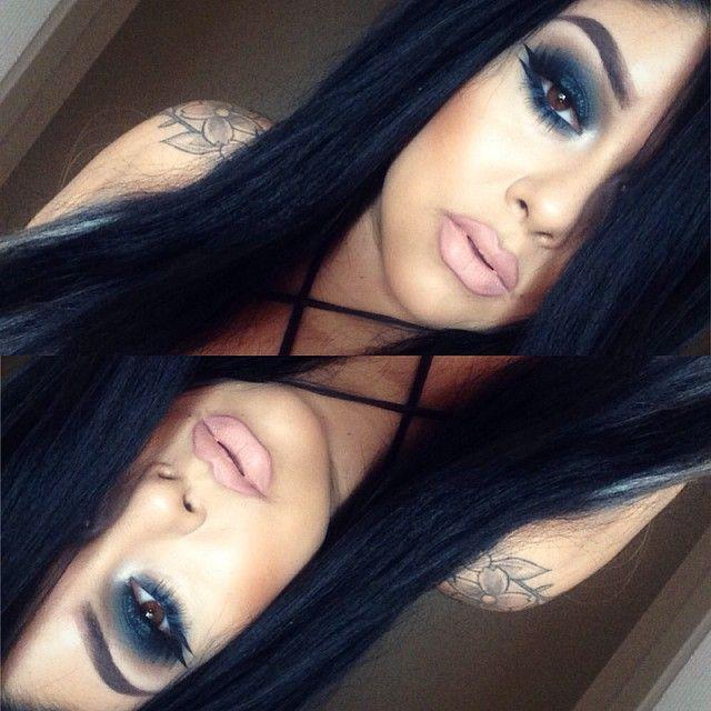 Black + Blue. #smokey #eye