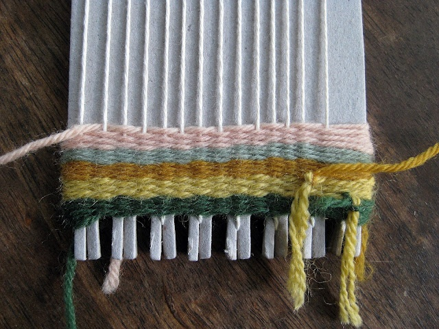 weaving on a loom for kids