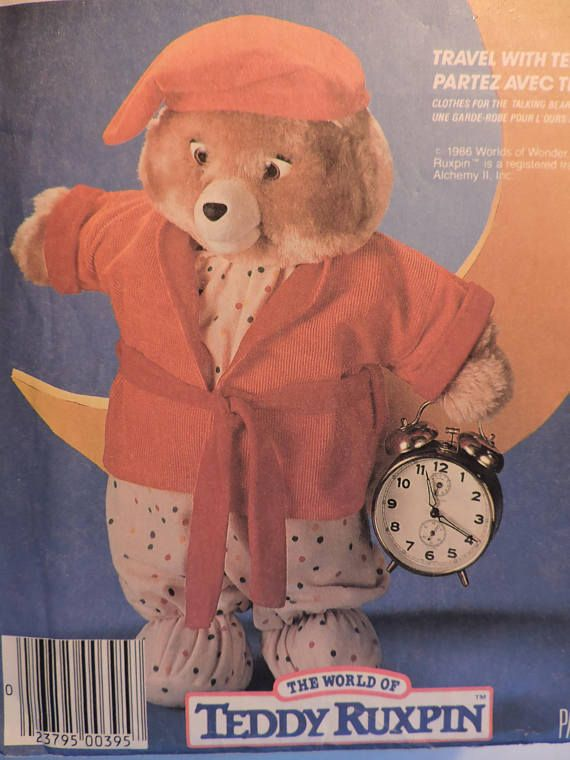 Teddy Ruxpin Teddy Bear Doll Clothes Sleepwear Night Clothes