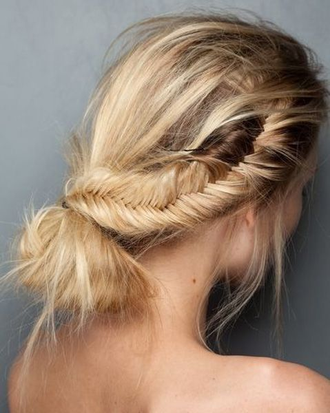 Stunning Inverted Braided Bun For Prom 2015 – 2016