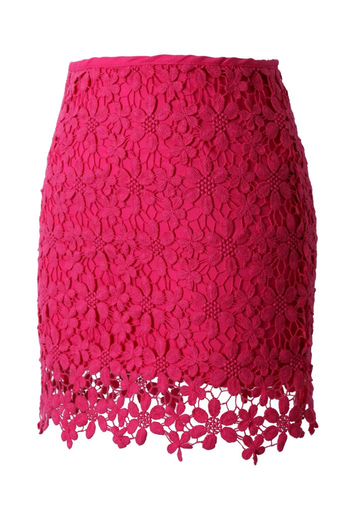 Lace and crochet skirt.