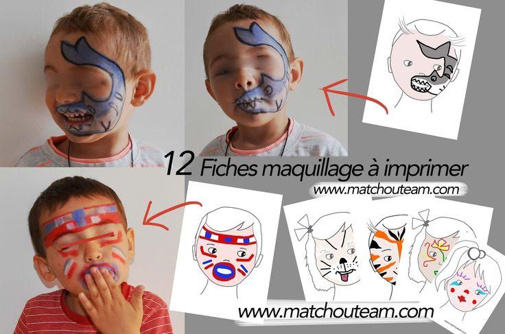 Les 123 meilleures images propos de carnaval - Modele maquillage enfant ...