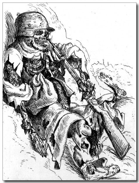 Otto-Dix-sentinelle-morte-1924