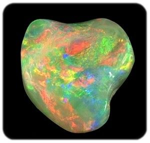 Opal Unset free-form crystal ready to be installed in a jewelry setting