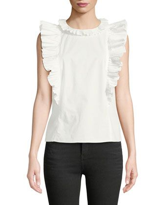 a0d905988d Pleated Ruffle Sleeveless Blouse by Rebecca Taylor at Neiman Marcus Last  Call.