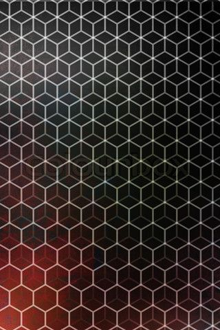 Overlaid hexagons. Could the natural change in lighting on reflective gold create the graduated pattern-shift effect?
