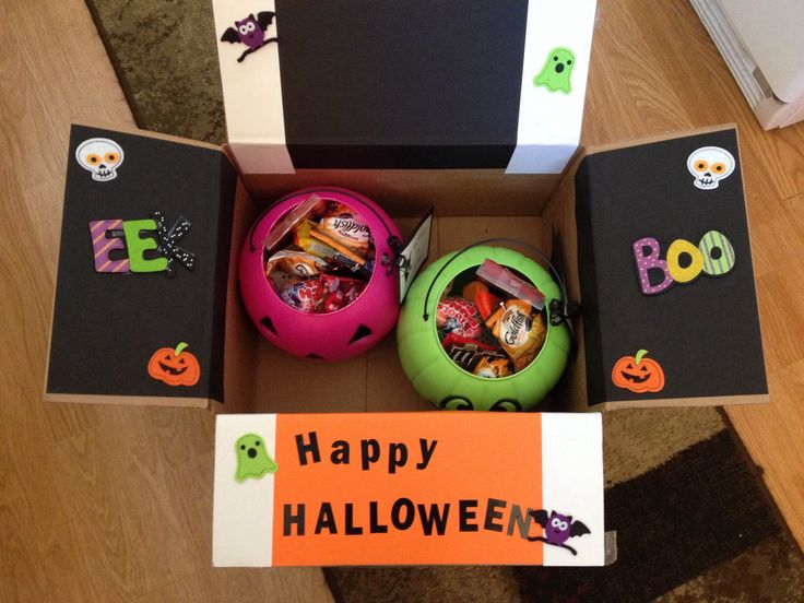 Halloween care package for my daughter and her roommate!
