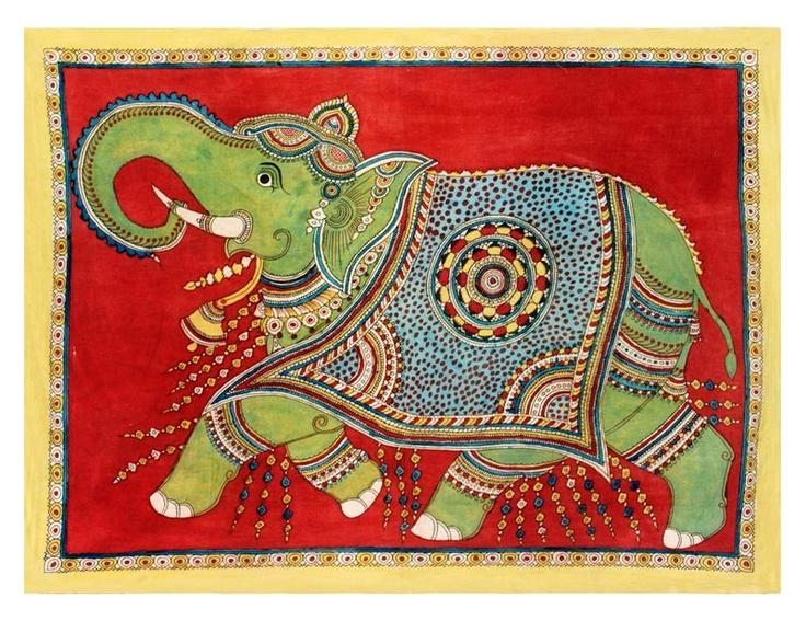 Passionate Elephant - A Kalamkari Work