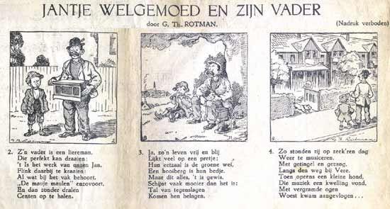 Jantje Welgemoed door G.Th.Rotman.  Strip uit 1933