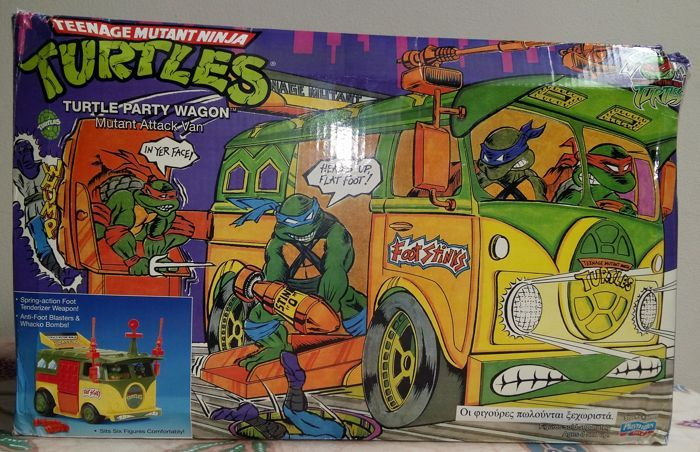 Catawiki online auction house: Party Wagon Teenage Mutant Ninja Turtles TMNT Mutant Attack Van Playmates Toys