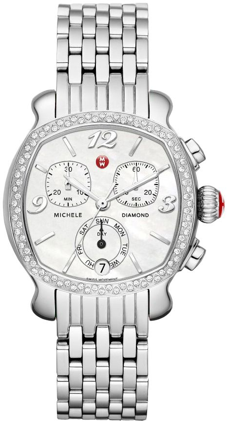 MWW22A000001  NEW MICHELE LILOU LADIES WATCH IN STOCK   - FREE Overnight Shipping | Lowest Price Guaranteed    - NO SALES TAX (Outside California)- WITH MANUFACTURER SERIAL NUMBERS - Mother of Pearl Dial  - 80 Diamonds Set on Case (.46ct) - Chronograph and Date Features  - Battery Operated Quartz Movement- 3 Year Warranty- Guaranteed Authentic  - Certificate of Authenticity- Manufacturer Box