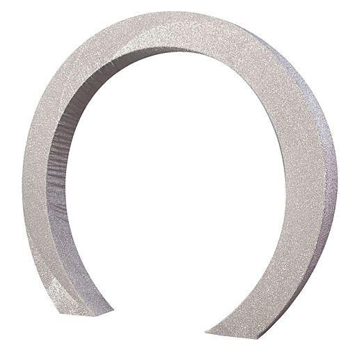Silver Glitter Circle Arch