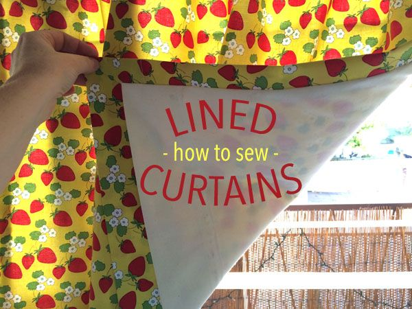 Lined curtains are elegant, block double the light and protect the fabric from fading. Learn to sew fully lined curtains in this step-by-step tutorial!
