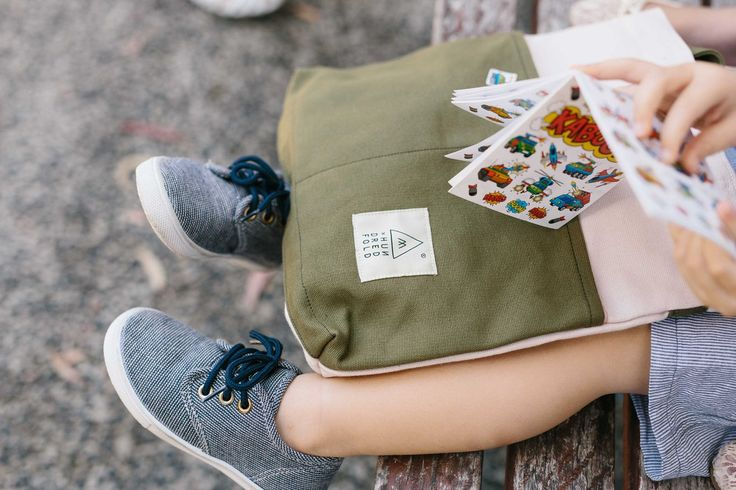 Oatmeal & Olive Traveller Basic Backpack in Mini (for our little people)