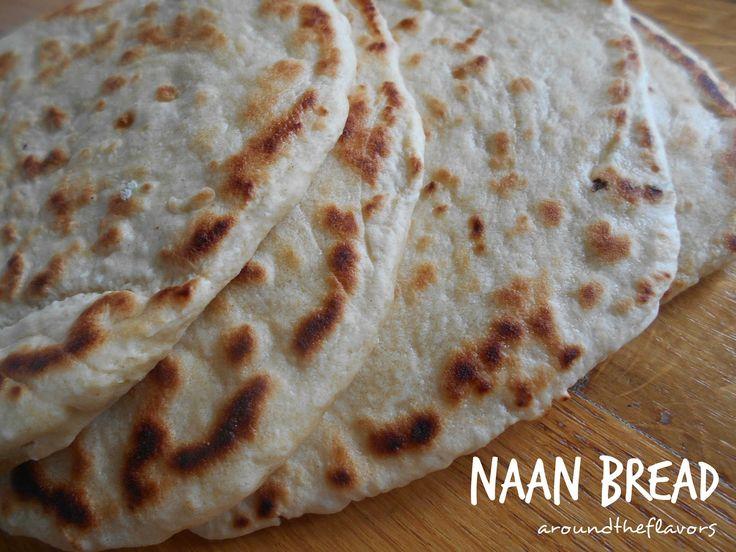 Around the flavors: Chlebek naan (bez drożdży)
