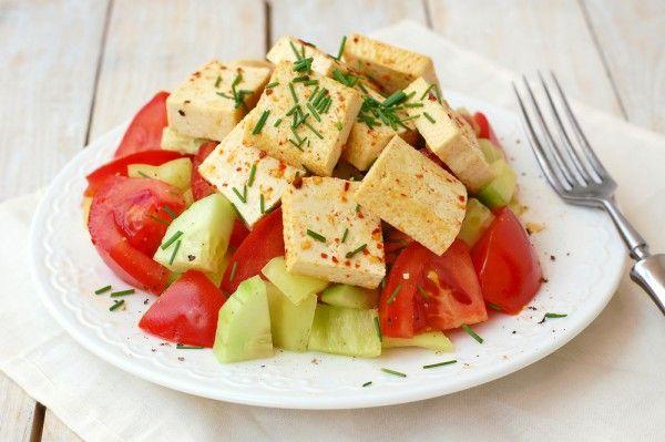 Салат с тофу