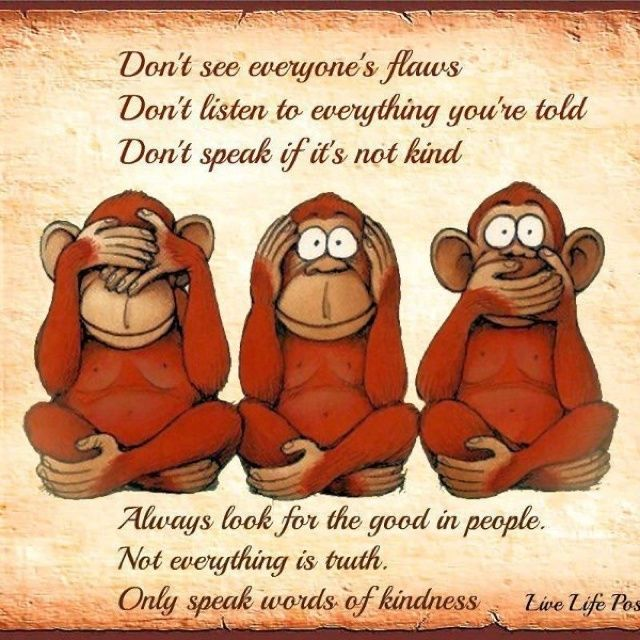 Don't see everyone's flaws....