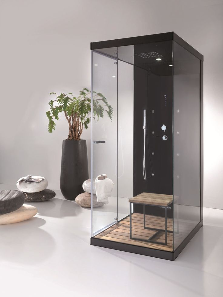Multifunction glass and aluminium shower cabin WELLBOX Wellbox Collection by MEGIUS