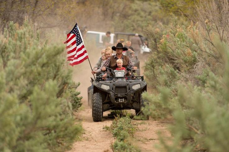 Ryan Bundy, son of the Nevada rancher Cliven Bundy, rides an ATV into Recapture Canyon north of Blanding, Utah on Saturday, May 10, 2014, in a protest against what demonstrators call the federal government's overreaching control of public lands. The area has been closed to motorized use since 2007 when an illegal trail was found that cuts through Ancestral Puebloan ruins. The canyon is open to hikers and horseback riders. (Trent Nelson / The Salt Lake Tribune)