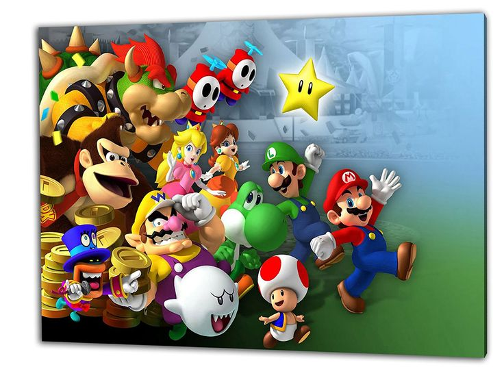 Schön Super Mario Leinwandbild