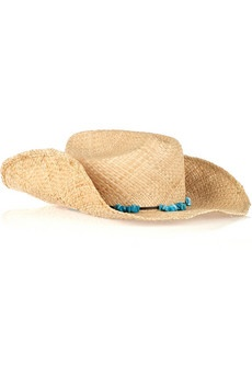 #Stetson Straw #Hat with #Turquoise Stones #summer