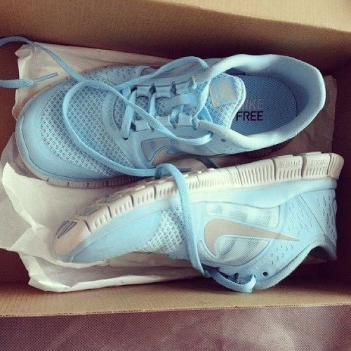 Carolina Blue Nike Free Tennis Shoes