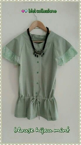 Blouse hijau mint