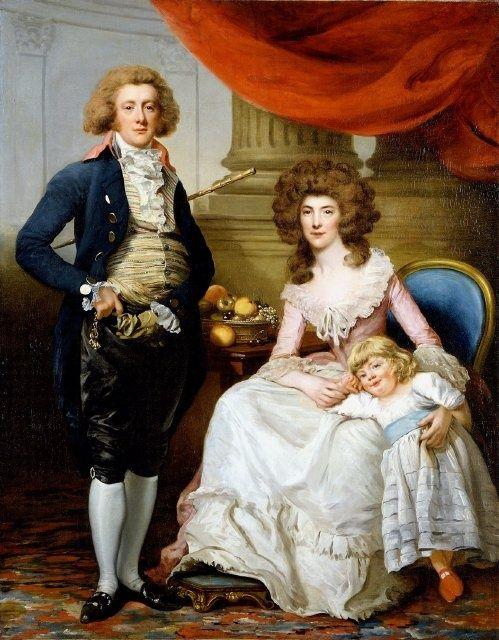 John Moultrie III and Family by John Francis Rigaud,c. 1782