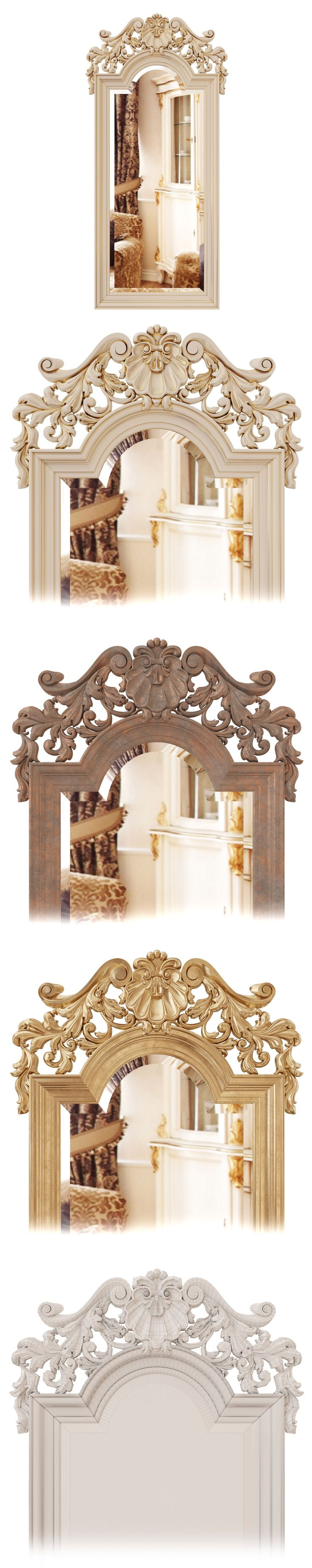 classic mirror 3d model and visualization made by Vividi group