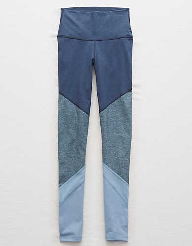 Aerie Colorblock Legging , Navy | Aerie for American Eagle
