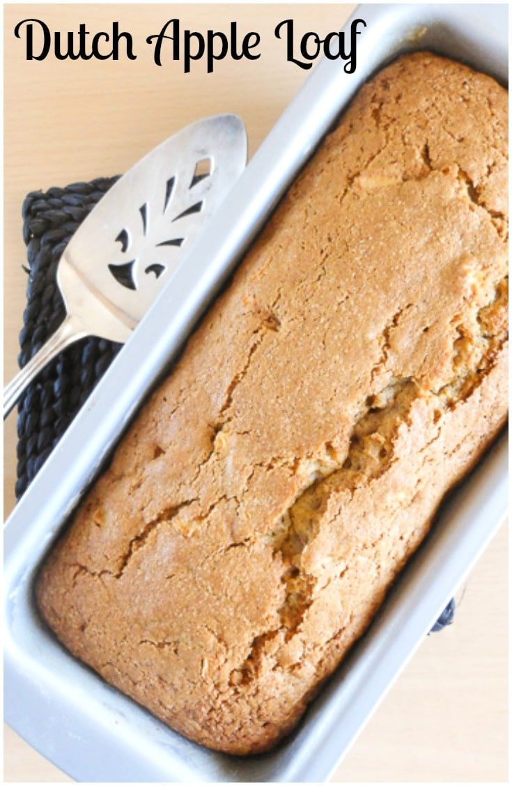A moist, soft and delicious apple and cinnamon loaf, Dutch Apple Loaf.  The perfect breakfast, snack or dessert bread. via @https://it.pinterest.com/Italianinkitchn/