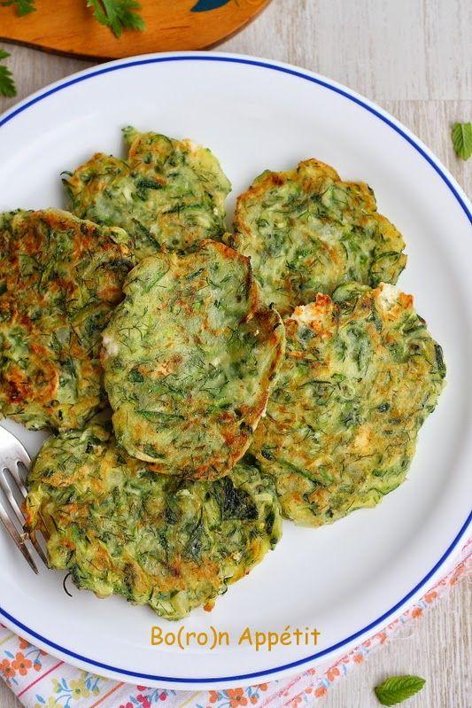 Blog Bo(ro)n Appétit: Placuszki z cukinii po grecku