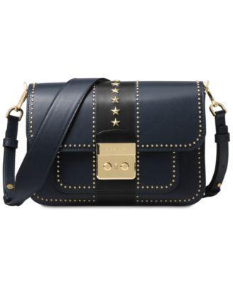 df647ac58a9 Michael Michael Kors Sloan Editor Star Studded Leather Shoulder Bag - Blue