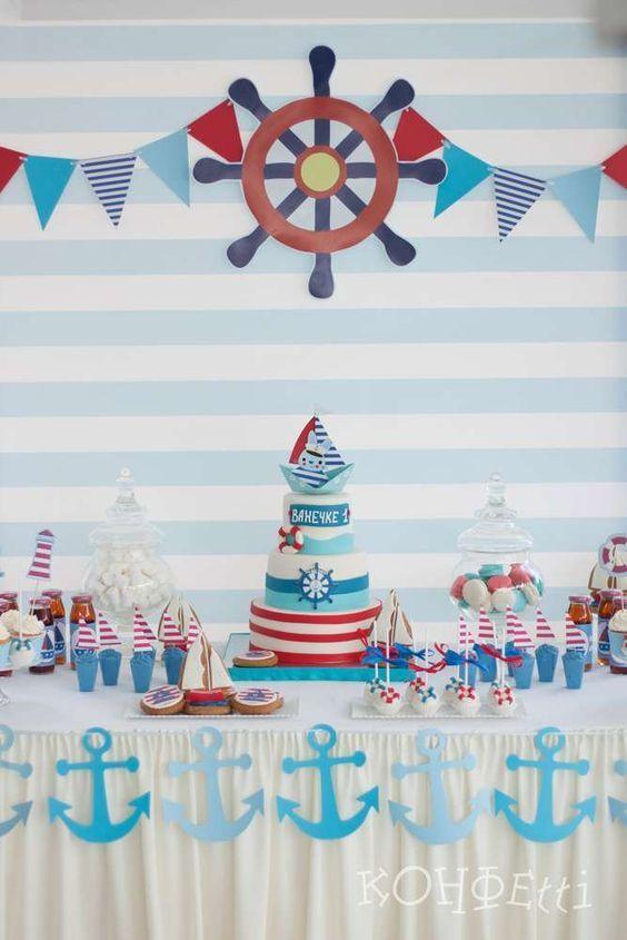Fiesta de marinero para niños http://tutusparafiestas.com/fiesta-marinero-ninos/ Sailor's party for children #cumpleañoscontemademarinero #cumpleañosdemarinero #cumpleañostemáticodemarinero #fiestacontemademarinero #fiestademarinero #Fiestademarineroparaniños #fiestademarineros #fiestatematicademarinero