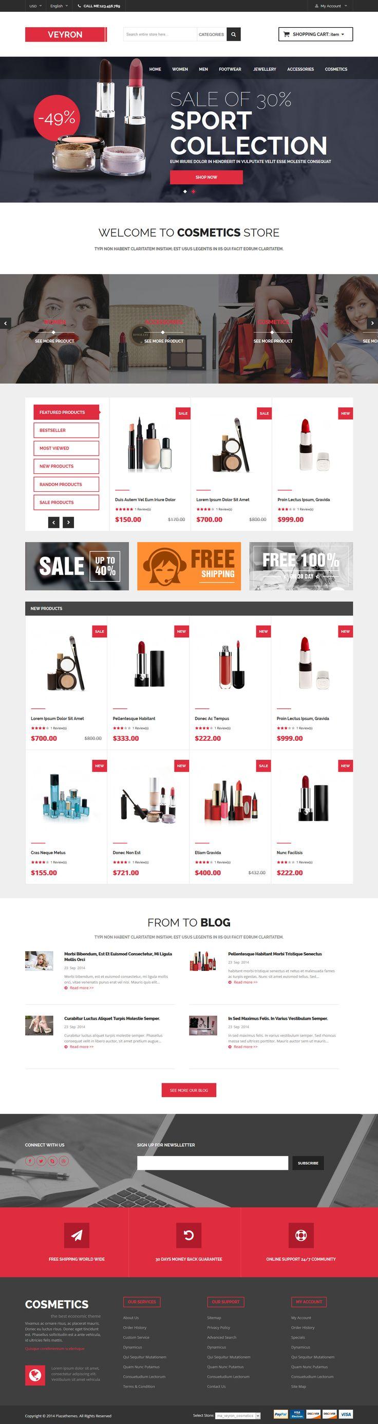 Veyron - Multipurpose Responsive Magento Theme #website #webshop #ecommerce Download: http://themeforest.net/item/veyron-multipurpose-responsive-magento-theme/9117158?ref=ksioks