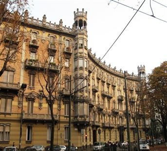 Palazzo in stile Liberty dei primi del '900 - Corso Re Umberto, Torino