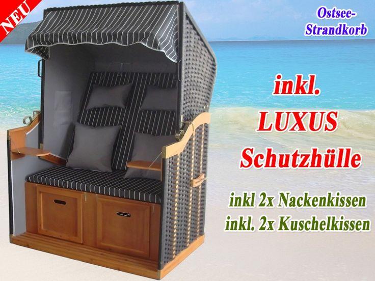 Bestseller Strandkorb XL anthrazit günstig kaufen ✔ Schutzhülle winterfest Ostsee Strandkorb