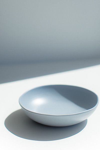 ORGANIC SMALL SERVING BOWL - STEEL BLUE